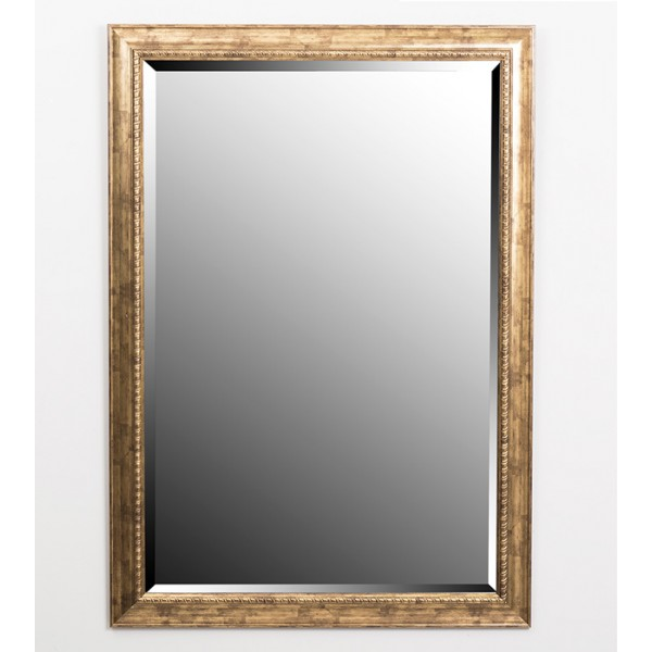 Espejo marco dorado fino 60x90 cm decoraci n espejos for Espejo marco dorado