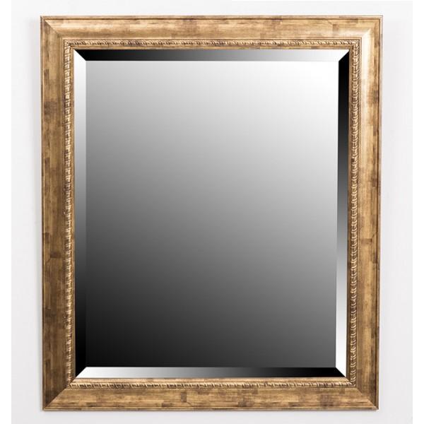 Espejo resina dorado 50x60 cm decoraci n espejos for Espejo dorado bano