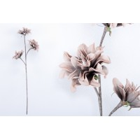 Flor foam 3 flores marrón 30x81cm