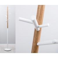 Perchero de pie metálico blanco y madera ramas árbol 180cm