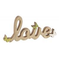 Figura madera Love pajaros 30xh13cm