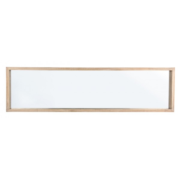 Espejo rectangular marco madera natural paulownia 32x122cm for Espejo rectangular con marco de madera