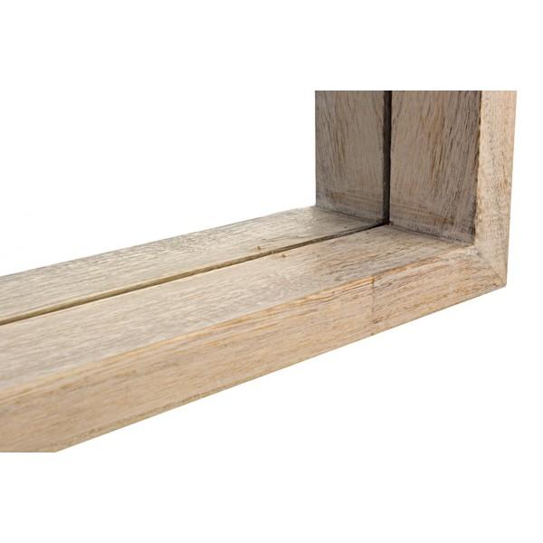 Espejo rectangular marco madera natural paulownia 32x122cm for Espejo rectangular con marco