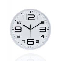 Reloj de pared esfera blanca números negros relieve 30cm