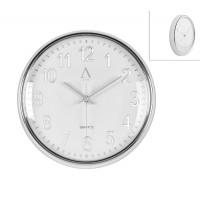 Reloj de pared retro cromado esfera blanca 30cm