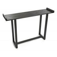 Consola mesa de entrada Elgin color negro 120x30xh80cm