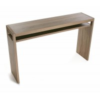 Consola mesa de entrada Flint color roble 120x30xh75cm
