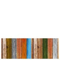 Alfombra cocina vinílica estampado suelo madera colores 50x140 cm