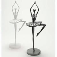 Figura bailarina tutu Anna blanca o gris oscuro 14xh37cm