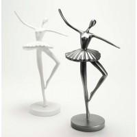 Figura bailarina tutu Sophie blanca o gris oscuro 14xh37cm