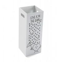 Paraguero madera blanco dibujo Love Rain 21x53 cm
