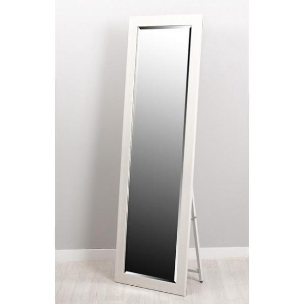 Espejo resina con soporte blanco 40x150cm 58 2x168 2 cm for Espejo pie blanco