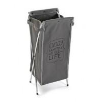 Cesto cubo para ropa gris Enjoy Laundry 31x24xh68cm