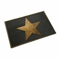 Felpudo goma de caucho dibujo estrella dorada 40x60 cm