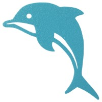 Pegatina bañera anti-deslizante delfín azul 10x10cm