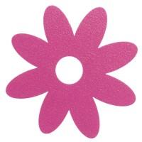 Pegatina bañera anti-deslizante flor rosa 10x10cm