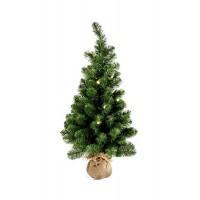 Arbol navidad en maceta de saco 20 luces leds y altura 90cm