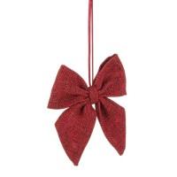 Adorno árbol de Navidad lazo rojo 12xh10cm