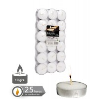 Set 36 velas tealight blanca 10gr 3,8cm