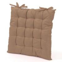 Cojín para silla cuadrado beige 40x40x5 cm