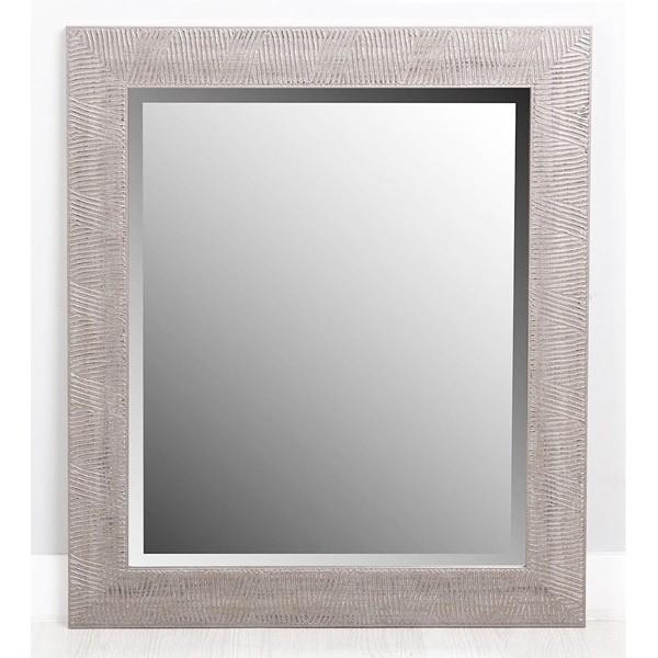 Espejo marco resina plata relieve rayas 50x60 cm - Espejos de resina ...