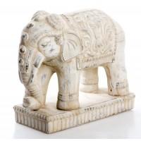 Figura cerámica Elefante beige 27,5x12x23,5cm
