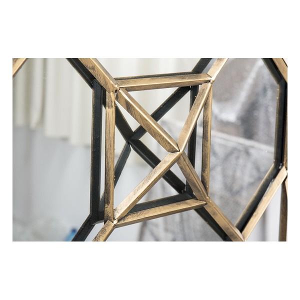 Espejo cuadrado marco met lico dorado envejecido 50x8x56cm decoraci n - Espejos cuadrados grandes ...