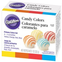 Set 4 colorantes para chocolate o caramelo Candy Colors Wilton 4x7gr