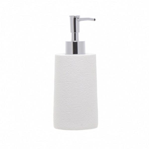 Dosificador jab n ba o resina lineas blanco piedra - Dosificador jabon bano ...