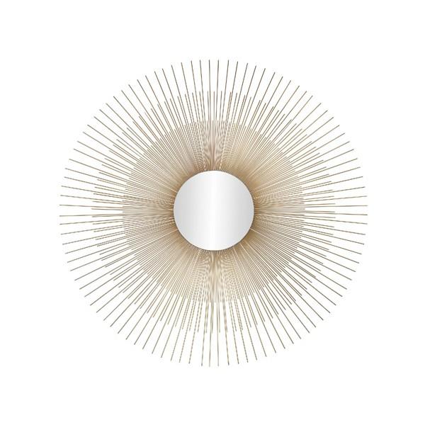 Espejo redondo marco met lico dorado decorativo sol 76cm for Espejo redondo grande