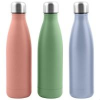 Botella termo para líquidos acero inoxidable varios colores 500ml