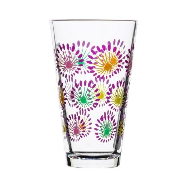 Set 4 vasos para refrescos cristal decorado colores for Vasos cristal colores