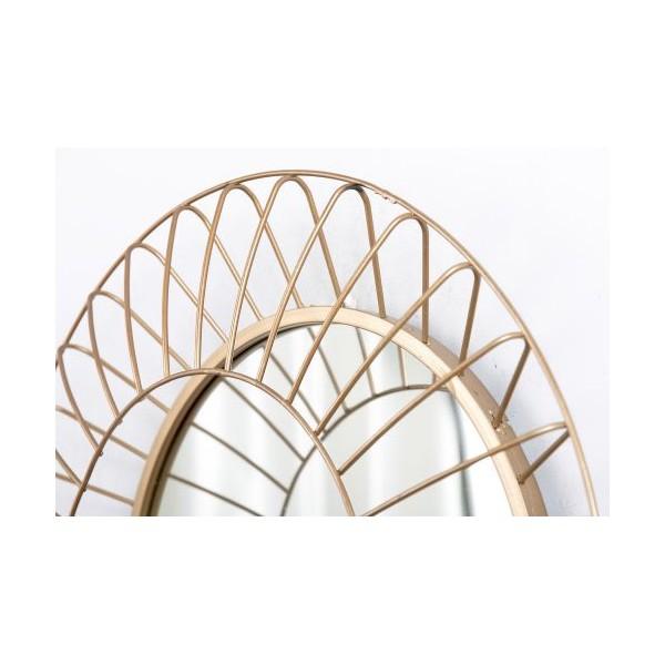 Espejo redondo marco met lico dorado onda doble peque o 39 - Espejos redondos pequenos ...