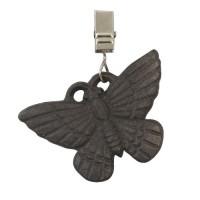 Juego 4 sujetamanteles hierro marrón mariposas