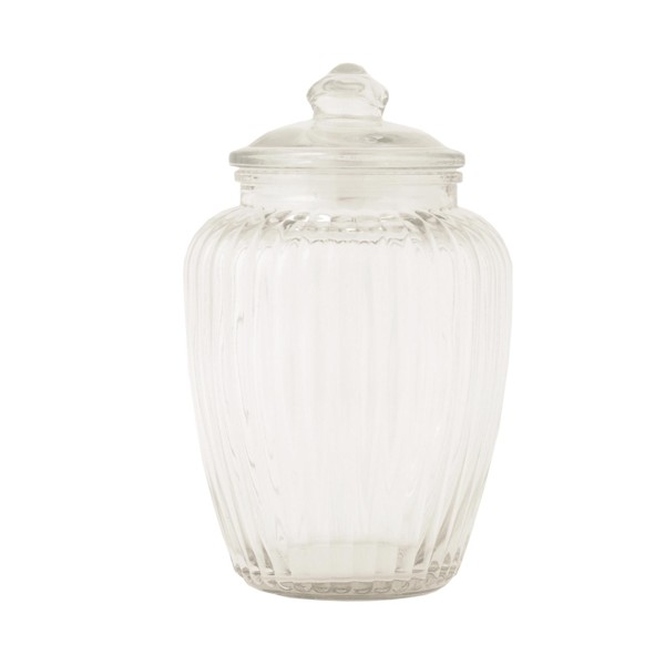 Bote cristal con tapa 15x25 cm decoraci n accesorios - Bote cristal con tapa ...