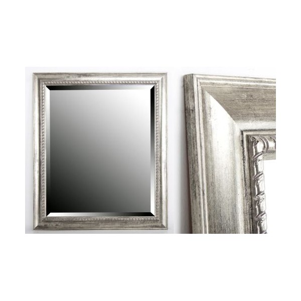 Espejo resina plateado 50x60 cm decoraci n espejos for Espejo rectangular plateado