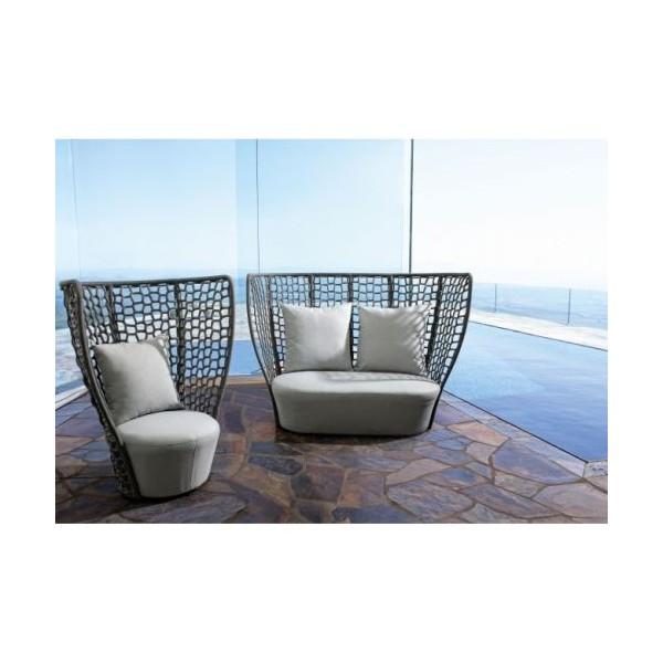 Sof de exterior 2 3 personas kravitz con cojines for Sofa exterior 120 cm