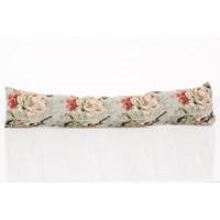 Cojín cortavientos con relleno flores rosas 89x20 cm