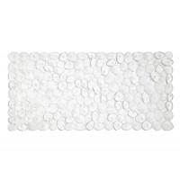 Alfombra de ducha bañera transparente piedras río 36x75cm