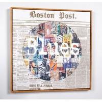 Cuadro lienzo cuadrado serigrafiado periódico Blues 70x70cm