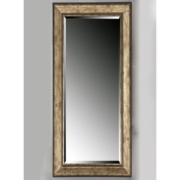 Espejo marco resina negro y dorado 40x120 cm 58x138 cm for Decoracion marco espejo