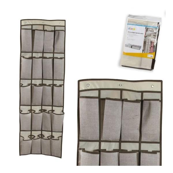 Zapatero para colgar textil 16 departamentos 44x135 cm for Zapatero fondo 16 cm