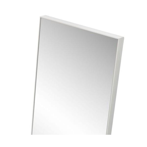 Espejo para puerta marco fino blanco 30 8x120 8cm for Espejo largo pared