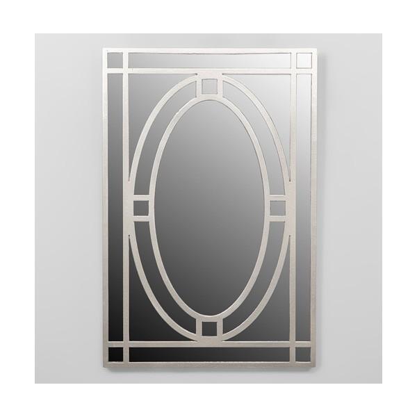 Espejo rectangular marco resina champagne oval 40x60cm for Espejo rectangular grande