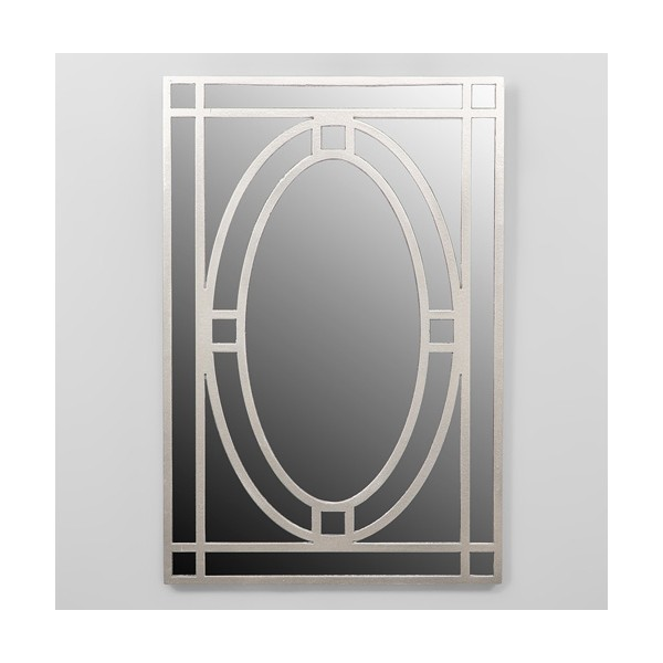 Espejo rectangular marco resina champagne oval 40x60cm decoraci n - Espejos de resina ...