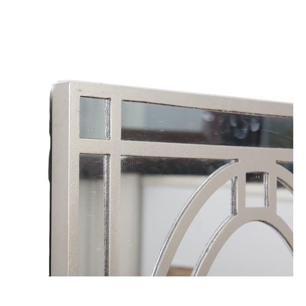 Espejo rectangular marco resina champagne oval 40x60cm for Espejo rectangular pared