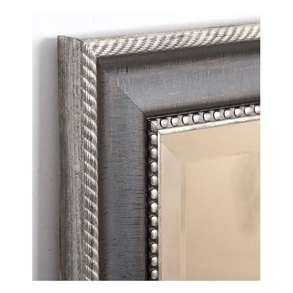 Espejo marco resina negro y plata relieve 40x120 cm decoraci n - Espejo marco negro ...