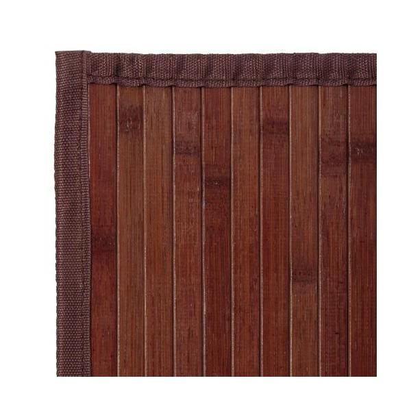 Alfombra tablillas bamb color nogal 60x90cm textil hogar - Alfombras bambu colores ...
