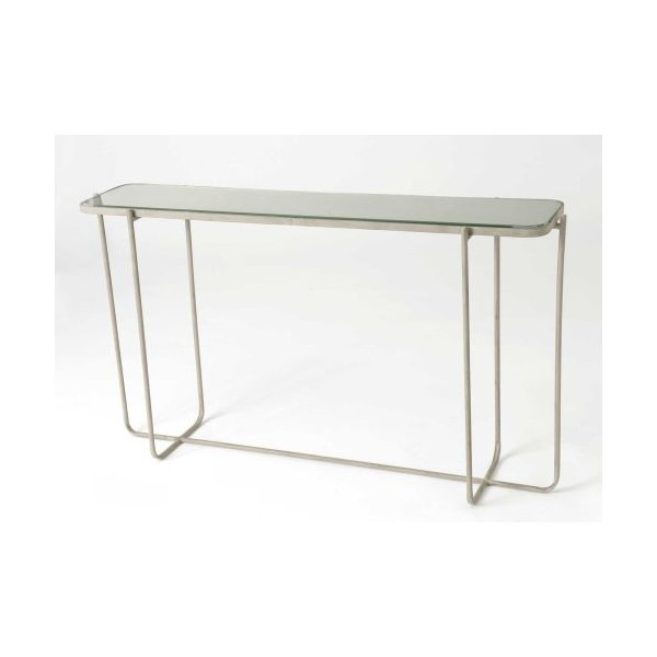 Consola met lica rectangular marr n con base espejo grande for Espejo rectangular grande