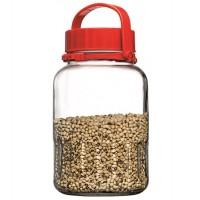 Frasco garrafa vidrio con tapa 3 litros